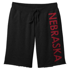 Men's Men's Nebraska Fleece Shorts by RZR-Black