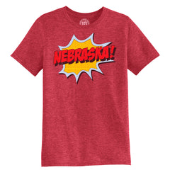 Men's Nebraska Pop Art Tee-SS-Heather Red