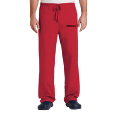 Men's/Women's Nebraska Scrub Bottom-Red
