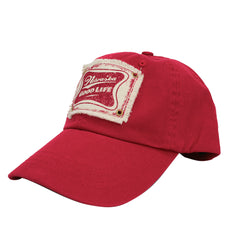 Men's Unstructured Twill Velcro Back Hat