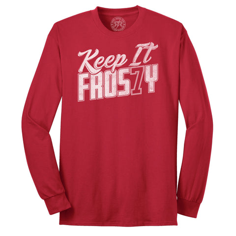 Men's Keep it Frosty Tee - L/S Red