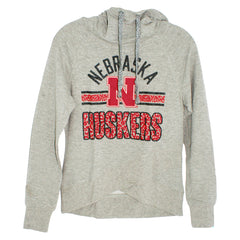 Juniors Flow Funnel Neck Hood by Adidas-LS-Grey