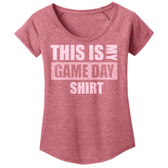 Women's Swoop Neck Game Day Tee-SS-Red