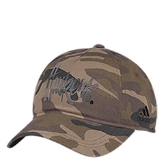 Women's Rhinestoned Huskers Camo Adjustable Slouch Hat By Adidas