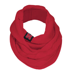 Women's Nebraska Huskers Red Infinity Scarf by Adidas