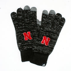 1 LEFT! Women's Husker Black Tech Glove - By Adidas