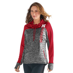 Women's Sideline Pullover Hoody-LS-Heather Grey