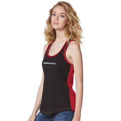 Women's Nebraska Racerback Tank-Red/Black