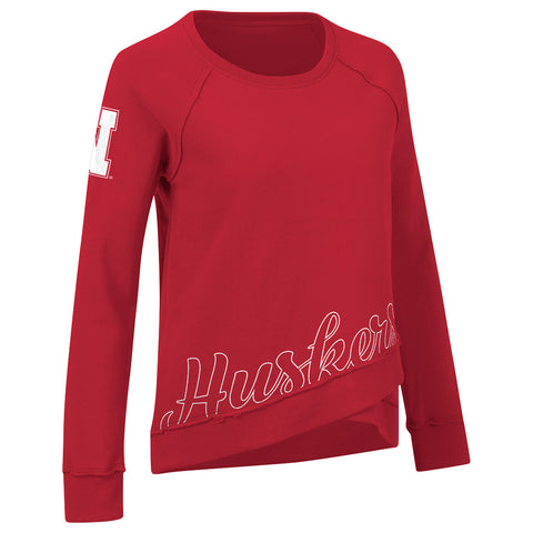 Women's Team Pride Fleece Sweatshirt by Alyssa Milano for G111-LS-Red