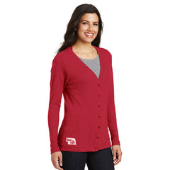 Women's Button Front Cardigan-Scarlet