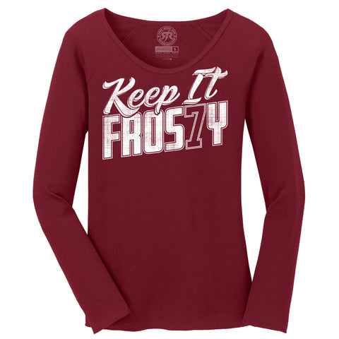 Women's Keep it Frosty Thermal Top by RZR - Cardinal - LS