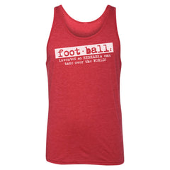 Women's Foot Ball Definition Boyfriend Tank-Red