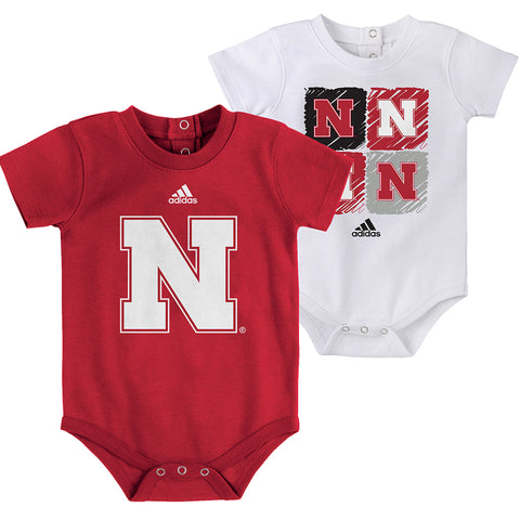 Newborn/Infant Double Up 2 Piece Creeper Set by Adidas