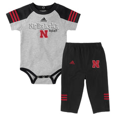 Newborn/Infant Power One Creeper and Pant Set by Adidas-SS-Grey/Black