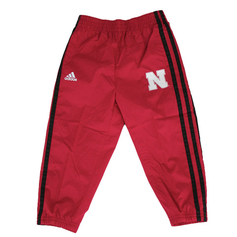 Infant/Toddler All Day Fleece Crew and Track Pant Set by Adidas-LS-Grey/Red