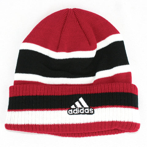Youth Huskers Striped Cuff Hat by Adidas - Red