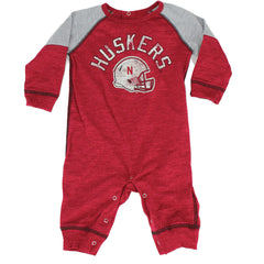 Newborn Heritage Coverall by Adidas-LS-Red