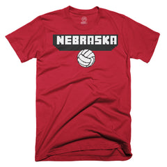Youth Nebrasaka-craft Volleyball Tee by RZR-SS-Red
