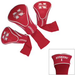 Nebraska Husker 3 Pack Contour Headcovers-Red