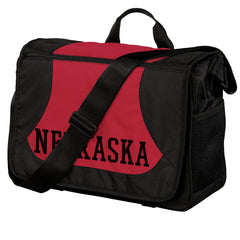 Nebraska Messenger Bag-Red/Cardinal