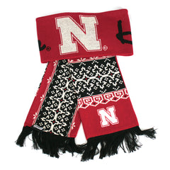Women's Nebraska Huskers Fair Isle Scarf by Adidas