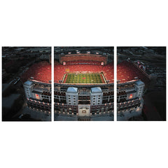 3 Panel Memorial Stadium Stretched Canvas Print - East Stadium