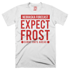 "Men's ""Nebraska Forecast: Expect Frost"" Tee-White"