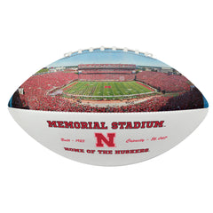 Nebraska Official Size Stadium Photo Autograph Football