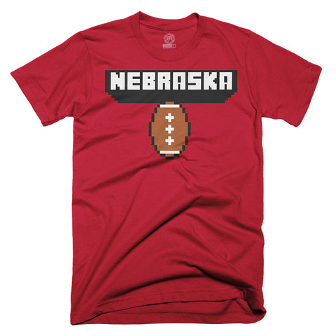 Youth Nebraska Football Tee-SS-Red