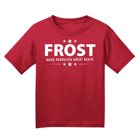 Kids/Youth Frost Make Nebraska Great Again Tee-Red