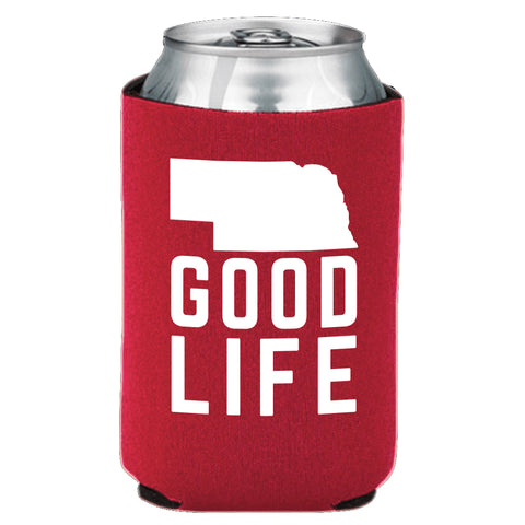 Nebraska State Good Life Can Koozie