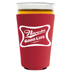 Nebraska Good Life Draft Pint Koozie