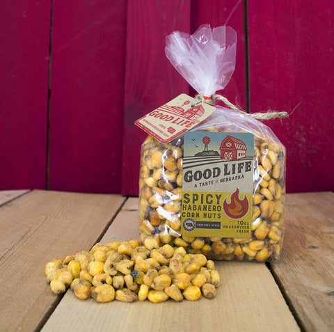Habanero Market Fresh Roasted Nebraska Corn Nuts Bag [10oz]