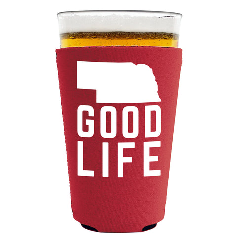 Nebraska State Good Life Pint Koozie