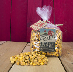 Salt & Pepper Market Fresh Roasted Nebraska Corn Nuts Bag [10oz]