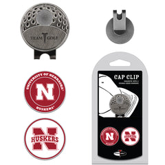 Nebraska Magnetic Cap Clip with 2 Double-Sided Markers