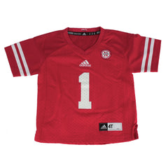 Toddler Nebraska Huskers #1 Jersey by Adidas-SS-Red