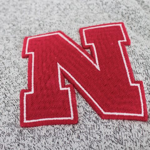 Nebraska Originals Pullover Hood by Adidas - LS - Grey