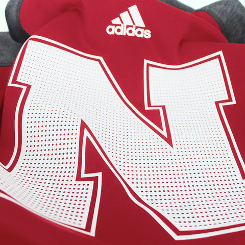 2016 Nebraska Huskers Player Hood by Adidas - Red - LS