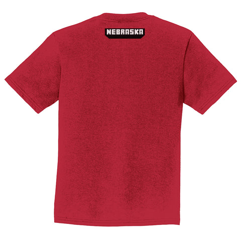 Youth Nebraska Soccer Tee-SS-Red