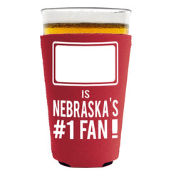 Nebraska #1 Fan Pint Koozie