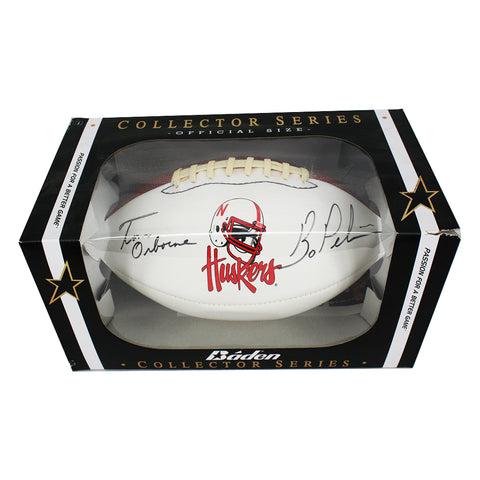 Autographed Tom Osborn & Bo Pelini  Football