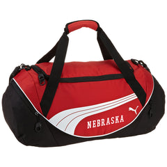 Nebraska Puma Duffel Bag-Red/Black