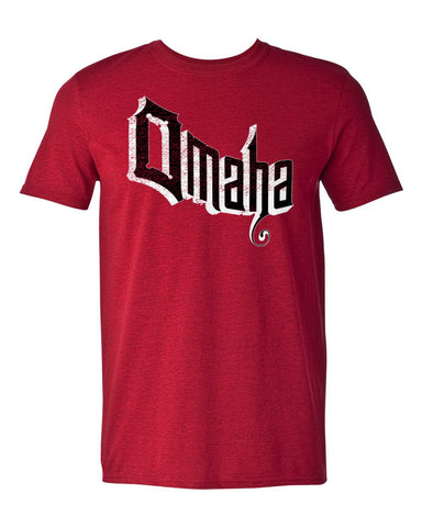 Men's Retro Omaha Tee By RZR - SS - Red