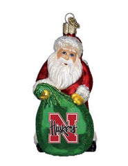 1 LEFT! Nebraska Santa Ornament