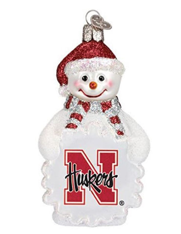 Nebraska Snowman Ornament