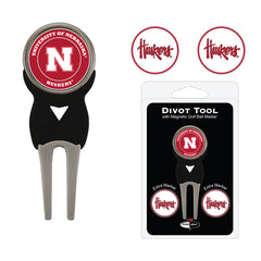 Nebraska Divot Tool with Magnetic Golf Ball Marker