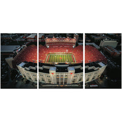 3 Panel Memorial Stadium Stretched Canvas Print - West Stadium
