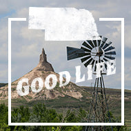 Nebraska Good Life State Apparel and Products