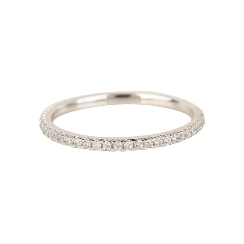 Diamond CZ Stack Ring